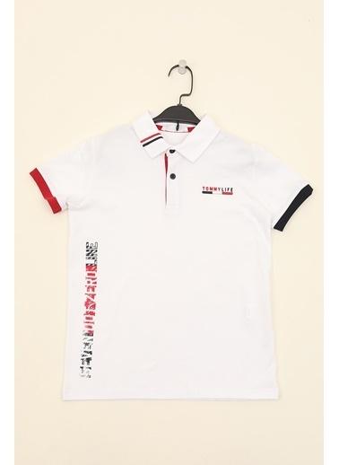 Tommy Life Tişört Beyaz